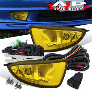 Amber Driving Bumper Fog Lights Lamps Wiring Switch For 2004 2005 Honda Civic