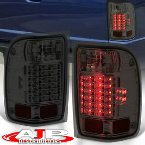 Smoke Len Replacement Led Tail Lights Stop Brake Lamps For 2001 2011 Ford Ranger