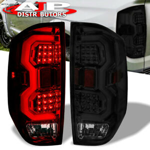 Smoked Len Led Tail Lights Brake Lamps Assembly Pair For 2014 2020 Toyota Tundra