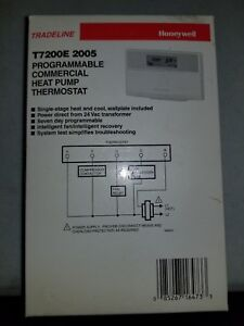 Honeywell T7200e 2005 Programmable Thermostat Heat Pump New Hvac Commercial