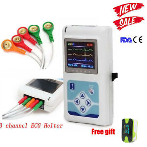 3 channel 24hrs Ecg Holter System Recorder Monitor analyzer Software Oled Sale