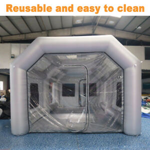 Inflatable Spray Paint Booth Custom Tent Car Filtration System Grey 26x13x10ft