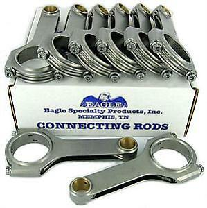 Eagle Connecting Rod Set Crs6125o3d H beam 6 125 Bushed For Chevy Ls series