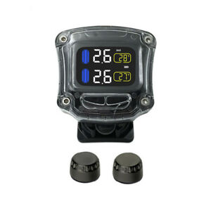 Motorcycle Tpms Tire Tempreature Pressure Monitor System Waterproof Sensorma1713