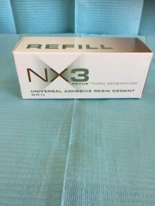 Kerr Nx3 Dual Cure Dental Adhesive Resin Cement Clear 1 X 5g Syringe