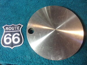 X1 Used Western Wheel Aluminum Center Cap Hub Cover 99 2524 On Back Of Hub