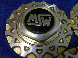 X1 Msw Oz O z Italy Gold Honeycomb Wheel Center Cap Part M249 On Back Of Hub