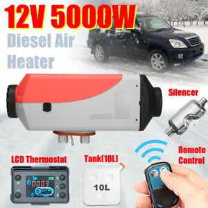 5000w 12v Air Diesel Heater Heating 5kw Remote For Truck Motor homes Boat bus Qm
