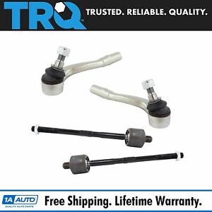 Trq Front Inner Outer Tie Rod Rack Steering End Kit Set Of 4 For C300 E350 Rwd