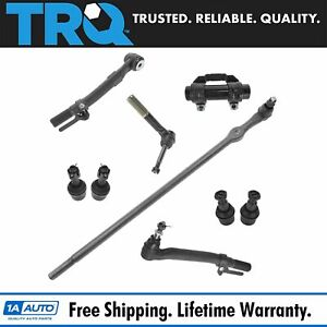 Front Ball Joint Tie Rod Drag Link Steering Suspension Kit Set 9pc For F250 F350