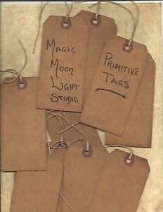 Primitive Grungy Tags 100 Lot Blank Scrap Booking Baked