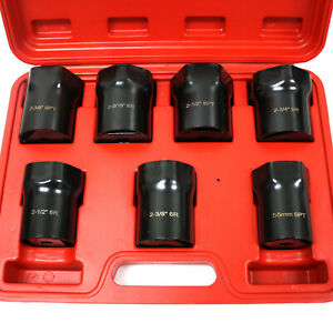 7 Pc 1 2 Drive 6 Point Wheel Bearing Axle Lock Nut Socket Set