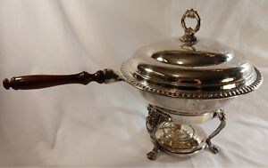 Vintage Buffet Chafing Dish W Lid Liner Stand Burner Party Food Warmer