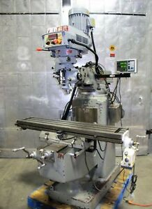 Comet Vertical Mill Milling Machine 10 X 50 Dro 3 Hp Acer Head Bridgeport Style