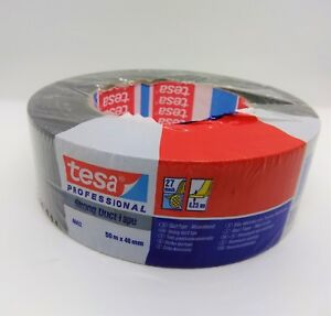 Tesa Strong Black Duct Tape 2 X 55y 48mmx50m 6 Rolls Made In Usa