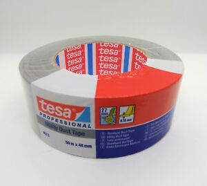Tesa Utility Silver Duct Tape 2 X 55y 48mmx50m 24 Rolls Made In Usa