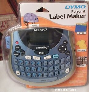 Dymo Letratag Lt 100t Thermal Label Maker Printer Qwerty Keyboard Paper Cassette