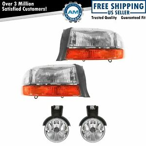 Headlight Fog Light Lamp Front Left Right Kit Set For Durango Dakota New