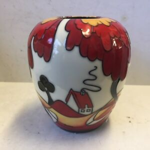 Discontinued Old Tupton Ware Ginger Jar Vase New Old Stock Art Deco Mib