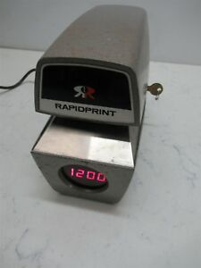 Rapidprint Arl e Time Clock Recorder Date Stamp Digital Display Business Unit