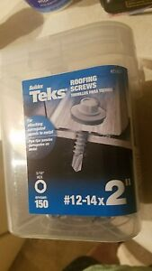 Teks 21427 Hex Head Corrugated Panel to metal Roofing Screws 12 14 X 2 qty 438