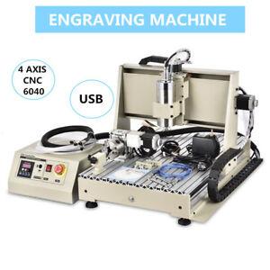4 Axis Cnc 6040t Usb Cnc Router Engraver Milling Engraving Carving Machine New