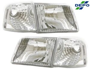 Fit 93 97 Ford Ranger Diamond Head Lights Clear Corner Lights Combo 4 Pcs