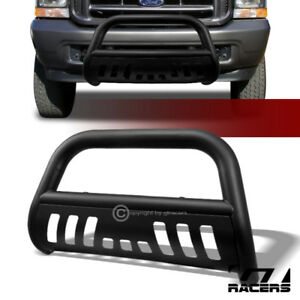 For 1999 2004 F250 2000 Excursion Matte Blk Bull Bar Bumper Grill Grille Guard
