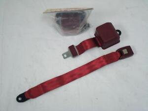 Universal Retractable 2 Point Burgundy Seat Belts Pair Street Rod Seatbelt