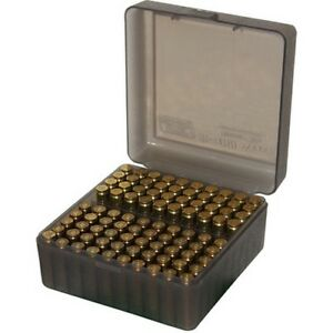 MTM RS10041 223204 Ruger 100-Round Capacity Clear Smoke Ammo Range Box