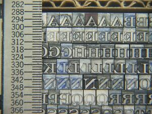 Litho Roman Caps 2 Fonts On 12 Pt Block Letterpress Metal Type