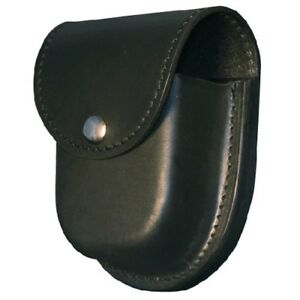 Boston Leather 5512 2 Black Double Police Tactical Duty Cuff Handcuff Hold