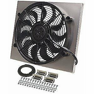 Derale 16821 Dual Speed Electric Puller Fan With Aluminum Shroud