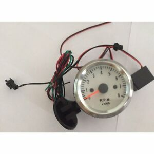 2 Inch 52mm 0 8000rpm Blue Led Auto Car Tachometer Tach Gauge With Holder Cup