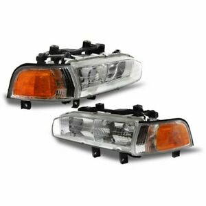 Halogen Headlight Set For 1992 1993 Honda Accord Left Right W Bulbs Pair