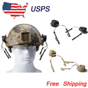 Outdoor FAST Airsoft Fast Helmet Rail Adapter Set Swat Ops Core Peltor Headset