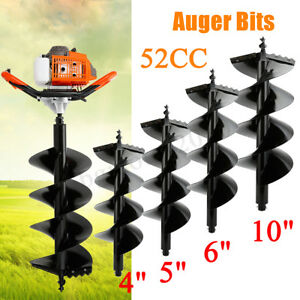 52cc Gas Post Hole Digger Fence Earth Digger With 4 5 6 10 Auger Bits Best