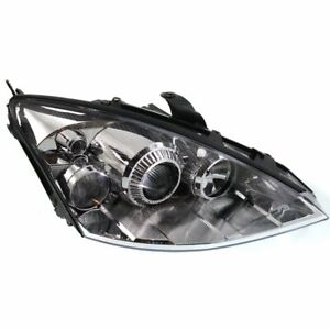 Headlight For 2002 2005 Ford Focus Right Clear Lens Chrome Housing Hid