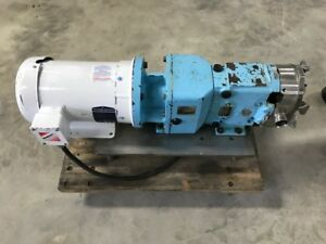Waukesha Mdl 30 Cherry Burrell Positive Displacement Lobe Pump Food Grade Ss