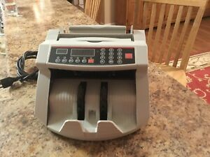 Cash Counting Bill Counter Bank Counterfeit Detector Uv mg Machine Gently Used