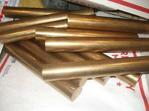 Beryllium Copper Bar Round Endcut Lot Of 12 Pcs Approx 8 00 Long Alloy25