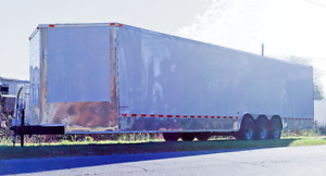 New Enclosed Cargo Trailers V nose With Ramp Door And Side Door 1 Year Warranty