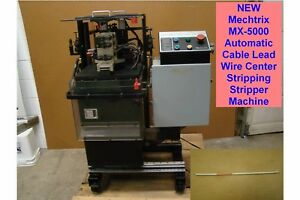 New Mechtrix Mx 5000 Automatic Cable Lead Wire Center Stripping Stripper Machine