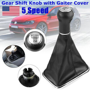5speed Gear Shift Knob Cover Shifter Gaiter For Vw Mk4 Jetta Bora Gti Golf 99 05