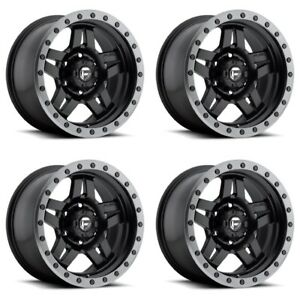 Set 4 20 Fuel Anza D557 Black Anthracite Lip Wheels 20x9 6x5 5 20mm 6 Lug