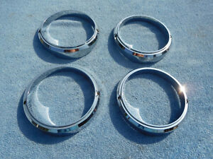 1960 Edsel Headlight Bezels Nice