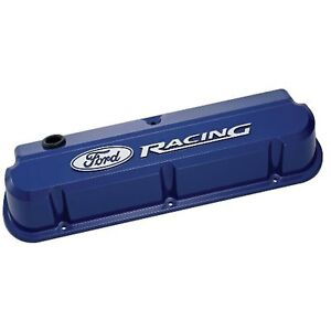 Ford Racing 302 136 Ford Blue Slant Edge Valve Covers