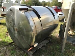 500 Gallon Vertical Stainless Steel Tank On Legs Closed Top W Manhole Slope Bo