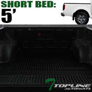 Topline For 2005 2019 Nissan Frontier 5 Feet Rubber Truck Bed Mat Liners Black
