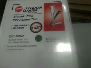 Case Of 960 Beckman Coulter Biomek 2000 P20 Pipette Tips 609043